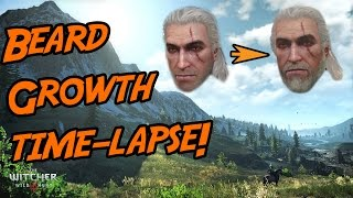 The Witcher 3- Geralt's Beard Growth (Time-Lapse)