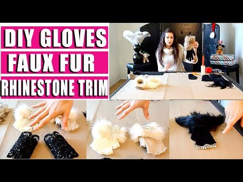 Fur Trim - A quick guide to make your own designer looking gloves for under $20. Plus bonus last minute gift ideas that make great stocking stuffers!