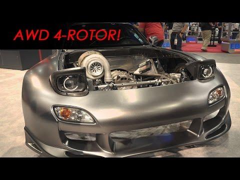 Rob Dahm's crazy turbocharged 4-rotor FD Mazda RX-7