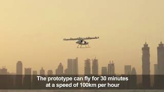 Driverless hover taxi makes first 'concept' flight in Dubai
