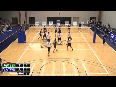 2015-01-30 TWU Men's Volleyball Highlights vs Saskatchewan