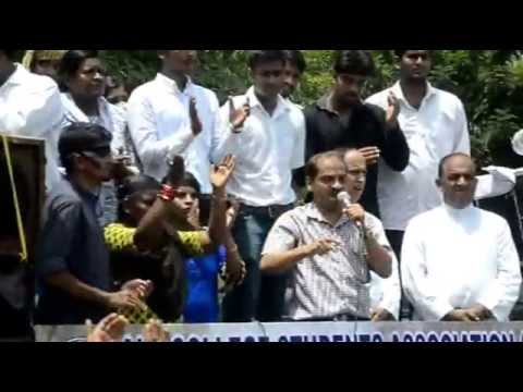 Students protest against Yettinahole Water Project in Mangaluru
