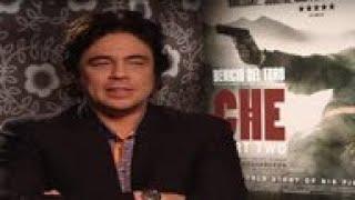 Benicio Del Toro discusses his latest film 'Che Part 2'.