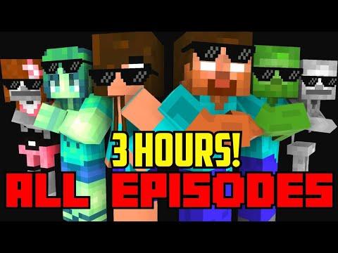 Monster School : All Episodes ! ( Season 1-7  ) - full Minecraft Animation