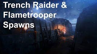 Battlefield 1: Trench Raider & Flametrooper Spawns Nivelle Nights