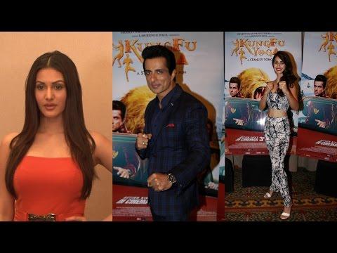 Sonu Sood, Amyra Dastur And Disha Patani Comes For Their Film Promotion Kung Fu Yoga