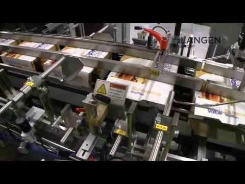 Mpac Langen's C-1000 Cartoner for Flow Wrapped Waffles