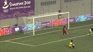 Watch the highlights as Bolivia beat Vanuatu 2-0 in the preliminaries of the men's football at the 2010 Youth Olympic Games in...