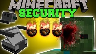 Minecraft: BASE SECURITY (ATTACKING HOME SECURITY SYSTEM!) Mod Showcase