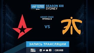 Astralis vs fnatic - IEM Sydney XIII - map2 - de_cache [SleepSomeWhile, Anishared]