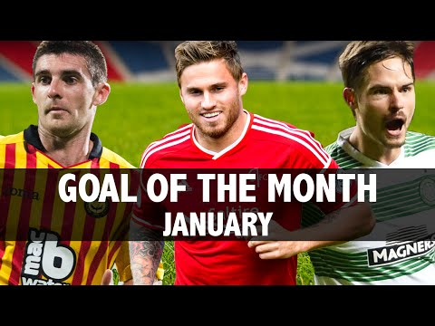 Scotland could see unlikely Goal of the Month winner for January