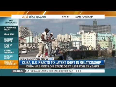 Carlos Curbelo on MSNBC's The Rundown discussing President Obama's shift in foreign policy with Cuba