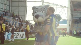 Take a look behind the scenes as Wolfie celebrated his 20th birthday with all the supporters when the Wire took on Hull FC at the HJ.