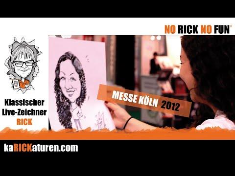 Karikaturist RICK… als Messezeichner auf der Kölnmesse