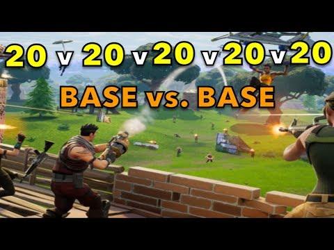 Trying to build a Mega Base In 20v20's!   Fortnite Battle Royale!
