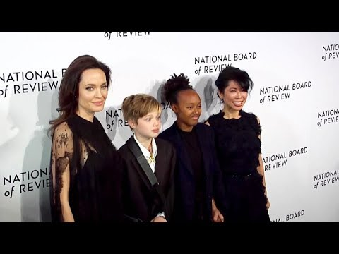 Angelina Jolie and her kids attend the 2018 National Board of Review Awards Gala