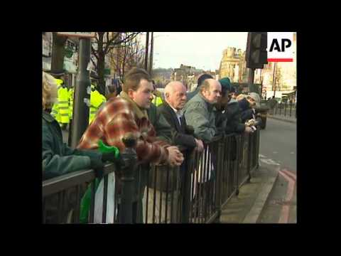 UK: LONDON: MARCH MARKS 26TH ANNIVERSARY OF 'BLOODY SUNDAY'