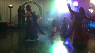 Arabic dance at a Punjabi wedding