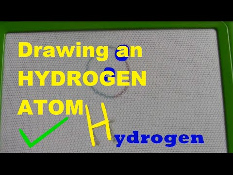 Drawing an hydrogen atom - for kids!