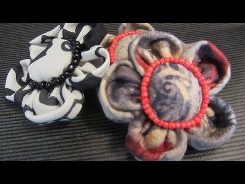Tutorial: Flor de tela, pétalos fruncidos.