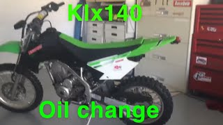 9. Changing the oil on my klx140