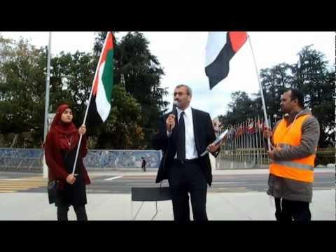 Rassemblement de soutien aux détenus politiques aux Emirats A-U . nov 2012