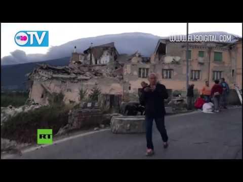 PRIMERAS IMÁGENES: Amatrice, una localidad italiana, en ruinas por el terremoto de 6,2