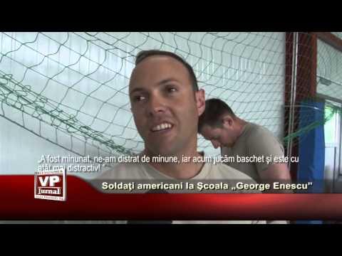 "Soldati americani la Scoala ""George Enescu"""
