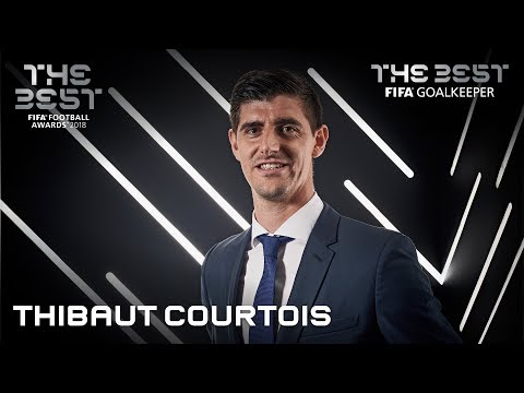 Thibaut Courtois Reaction - The Best FIFA Goalkeeper 2018