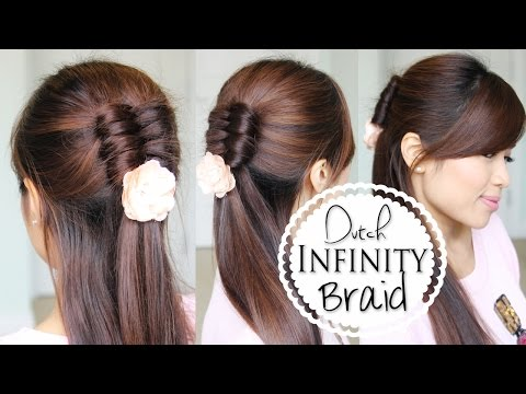 Dutch Infinity Braid Tutorial | Half Updo Prom Hairstyles