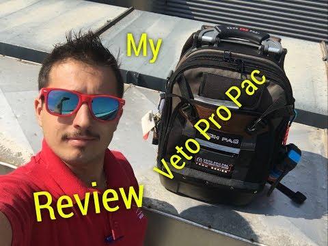 La mia Borsa Degli Attrezzi!! Review my professional bag  veto pro pac AX3501 Tech Pac