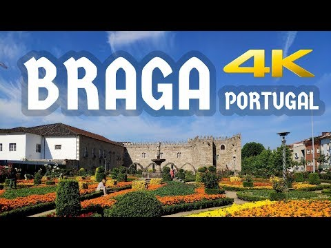 BRAGA, PORTUGAL — Part 1 — Video Walk【4K】🇵🇹
