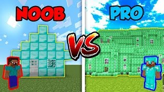 Minecraft Noob Vs Pro Diamond Or Emerald House In Minecraft Minecraftvideos Tv