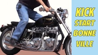 7. Motorcycle Kick Start: Twin Engine Triumph Bonneville