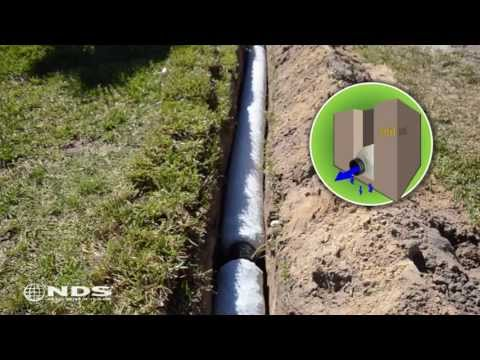 Nds 4 In X 10 Ft Prefabricated French Drain With Pipe Ez
