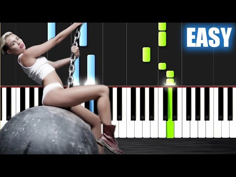 Miley Cyrus - Wrecking Ball - EASY Piano Tutorial By PlutaX