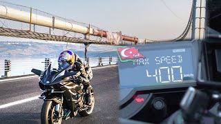 Od 0 do 400 km/h w 26 sekund! Nowy rekord prędkości Kawasaki H2R!