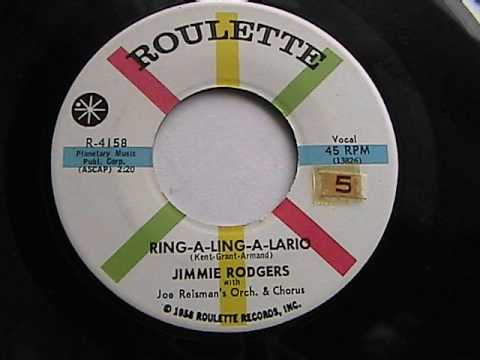 JIMMIE RODGERS  RING-A-LING-A-LARIO  ROULETTE RECORDS