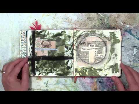 Art Journal flip through; Art Therapy, Art Journaling through Depression