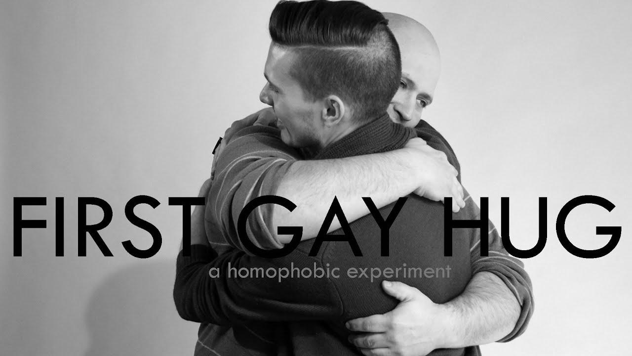 First Gay Hug (A Homophobic Experiment)