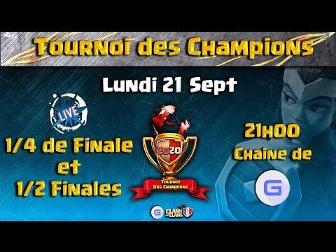 Les 8 meilleurs Clans Fr Clash of Clans - Août - Jour 1   Tournoi des Champions #GEmFo