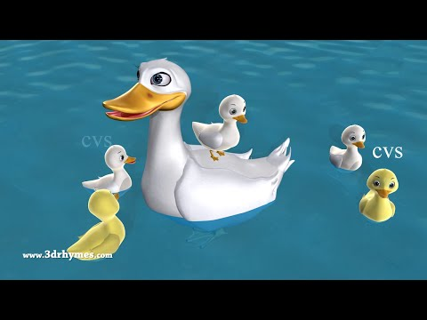 Five Little Ducks Went Out One Day - 3D Animation Five Little Ducks Nursery Rhyme for children (видео)