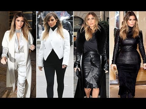 Kim Kardashian's Paris Fashion Week Style: Jumpsuits, Fur and Lots of Leather