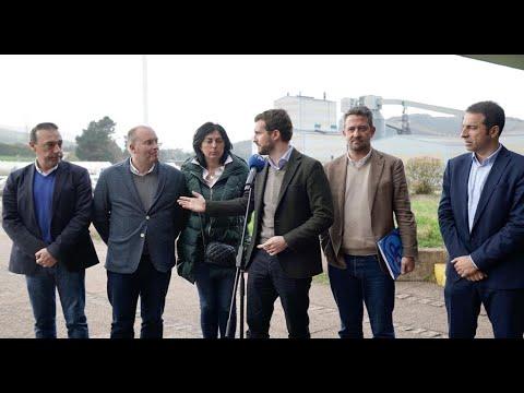 Casado ofrece su apoyo al Gobierno para aprobar antes del 5A el estatuto para industrias como Alcoa