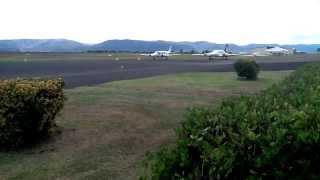 Scone Australia  city photos gallery : Charter flight taking off from Scone NSW Australia