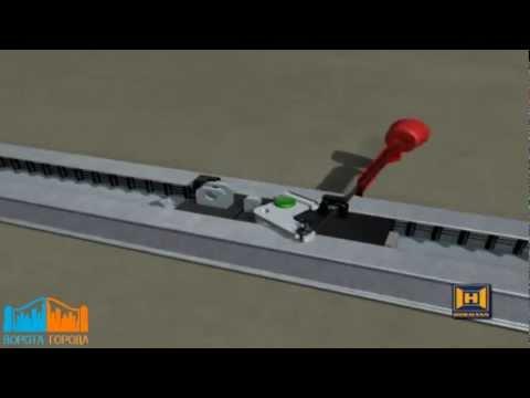 Самодельный электропривод для подъемных ворот 48