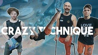 Crazy New Climbing Move - Upside Down - Drop Knee/Toe Hook - One Legged Climbing ( 4k ) by Eric Karlsson Bouldering