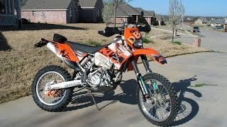 8. KTM 525 MXC exhaust sound and fly by