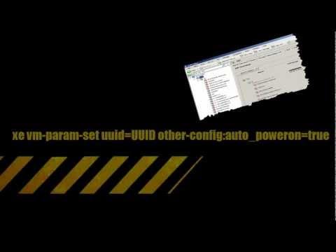 how to make vm autostart on xenserver 7 from gui