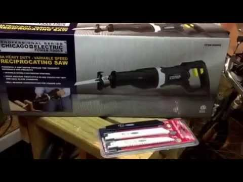 """""""Saws All"""" Reciprocating saw 9 amp by Chicago Electric Power Tools from Harbor Freight Tools unboxed"""